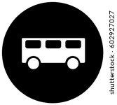 bus stop sign black. vector. | Shutterstock .eps vector #602927027