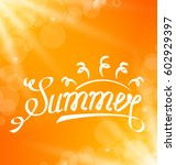 illustration summer abstract... | Shutterstock .eps vector #602929397