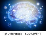 machine learning   artificial... | Shutterstock . vector #602929547