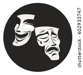 theater masks comedy and drama | Shutterstock .eps vector #602933747