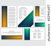 halftone flyer style background ... | Shutterstock .eps vector #602941457