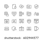 simple set of data security... | Shutterstock .eps vector #602944577