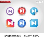 colored icon or button of play... | Shutterstock .eps vector #602945597