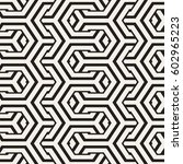 vector seamless interlacing... | Shutterstock .eps vector #602965223