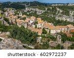 les baux de provence   medieval ...   Shutterstock . vector #602972237