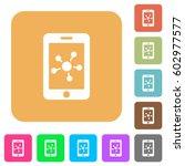 mobile social network flat... | Shutterstock .eps vector #602977577