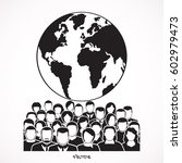 population of our world vector   Shutterstock .eps vector #602979473