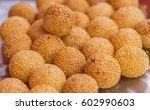 thai fried dumplings with... | Shutterstock . vector #602990603