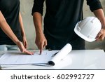 planning at a construction site. | Shutterstock . vector #602992727