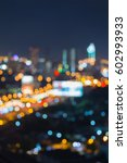 abstract blurred bokeh city of... | Shutterstock . vector #602993933