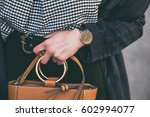 close up fashion details  young ... | Shutterstock . vector #602994077