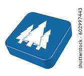 flat icon  fir trees  | Shutterstock .eps vector #602997443