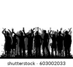 silhouette people are happy... | Shutterstock .eps vector #603002033