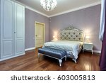 bedroom with a beautiful... | Shutterstock . vector #603005813