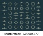 huge rosette wicker border... | Shutterstock .eps vector #603006677