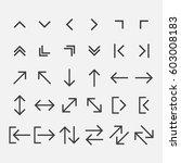 arrow icons set vector... | Shutterstock .eps vector #603008183