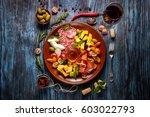 italian food cooking... | Shutterstock . vector #603022793