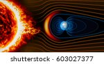 earth's magnetic field  the... | Shutterstock . vector #603027377