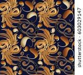 paisley floral seamless pattern.... | Shutterstock .eps vector #603029147