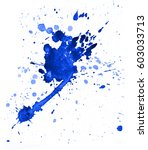 colorful abstract watercolor... | Shutterstock . vector #603033713