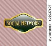 vector illustration of social... | Shutterstock .eps vector #603037607