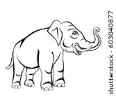 elephant | Shutterstock .eps vector #603040877