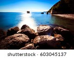 a sunny day in the italian... | Shutterstock . vector #603045137
