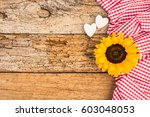 Romantic Background  Sunflower...