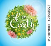 "banner ""earth day"" with the... 