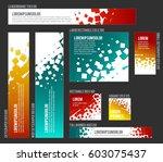 vector banner templates... | Shutterstock .eps vector #603075437