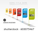 vector infographic company... | Shutterstock .eps vector #603075467