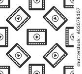 video icon seamless pattern on...