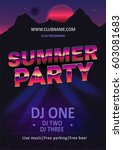 dj beach party  night club show ... | Shutterstock .eps vector #603081683