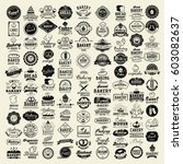 100 Bakery Logotypes Set....