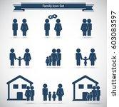 family icons set | Shutterstock .eps vector #603083597