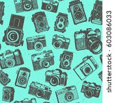 hand drawing retro photo... | Shutterstock .eps vector #603086033