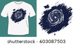 t shirt print design with... | Shutterstock .eps vector #603087503