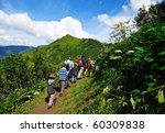 people walking on a path high... | Shutterstock . vector #60309838
