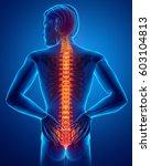 3d illustration of male feeling ...   Shutterstock . vector #603104813