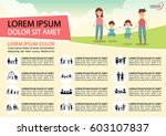 poster activities family icons. | Shutterstock .eps vector #603107837