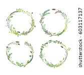 a set of round wreaths  a... | Shutterstock .eps vector #603117137