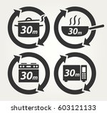 vector meal preparation icons... | Shutterstock .eps vector #603121133