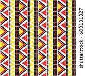 tribal pattern vector seamless. ... | Shutterstock .eps vector #603131327