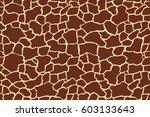giraffe texture pattern... | Shutterstock .eps vector #603133643