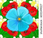 modern motley floral seamless...   Shutterstock .eps vector #603149027