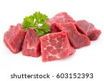 fresh meat on slice on the... | Shutterstock . vector #603152393
