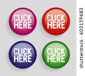 click here sign icon. press... | Shutterstock .eps vector #603159683