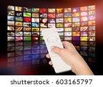 television tv stream smart... | Shutterstock . vector #603165797