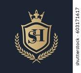 sh logo | Shutterstock .eps vector #603171617