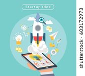 start up idea business launch a ... | Shutterstock .eps vector #603172973